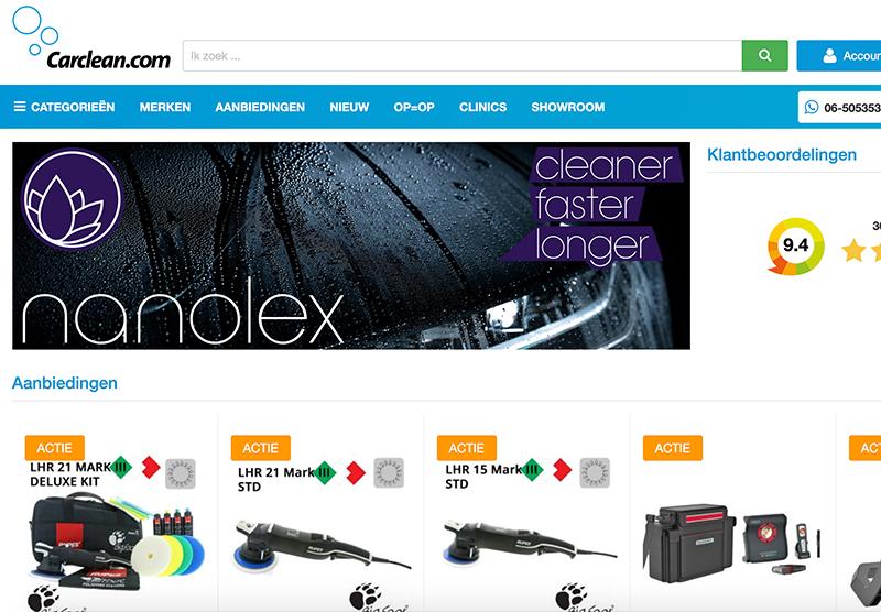 Carclean Magento website bouwen Modern Minds