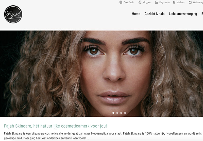 Fajah Lourens skincare website optimaliseren Modern Minds