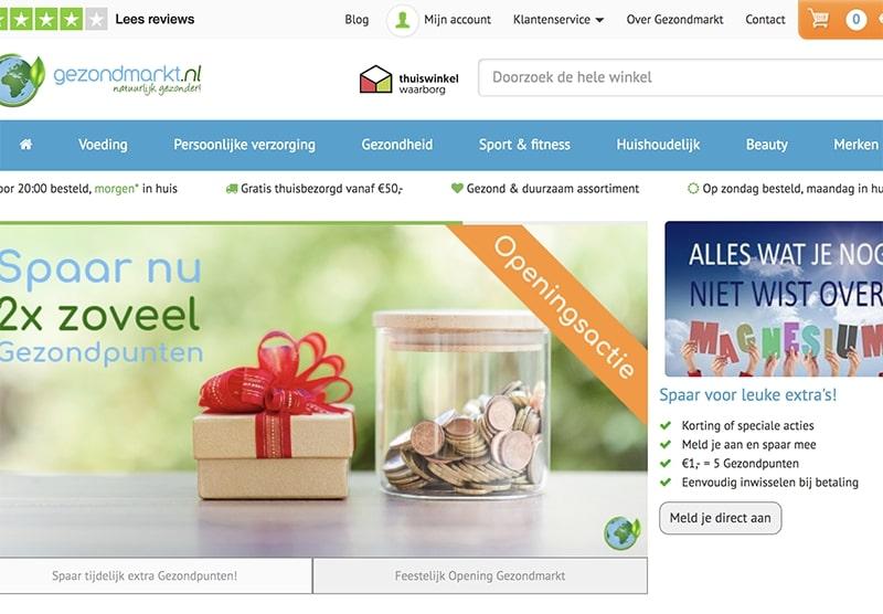 Gezondmarkt website bouwen Modern Minds