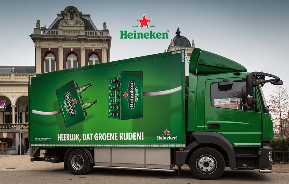 Heineken foto truck en logo marketing Modern Minds