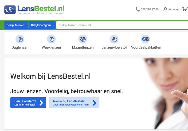 LensBestel website bouwen Modern Minds
