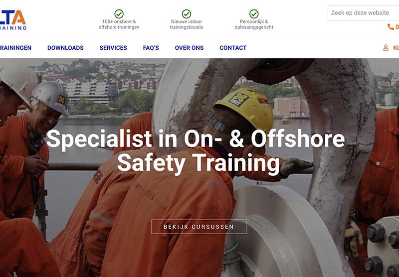 Website bouwen voor DELTA Safety door Modern Minds