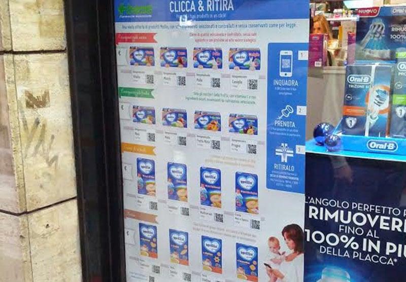 danone qr code pop-up store Modern Minds